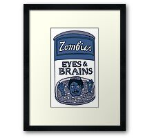 Zombies - Brains & Eyes Soup Framed Print