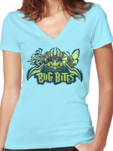 Team Bug Types - Bug Bites Women's Fitted V-Neck T-Shirt