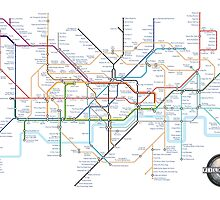 Tube Map as Film Genres by MovingMedia