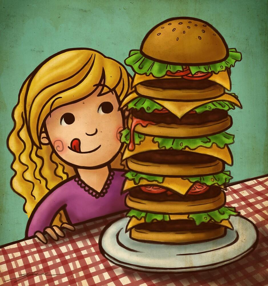 Mega Burger by Ine Spee