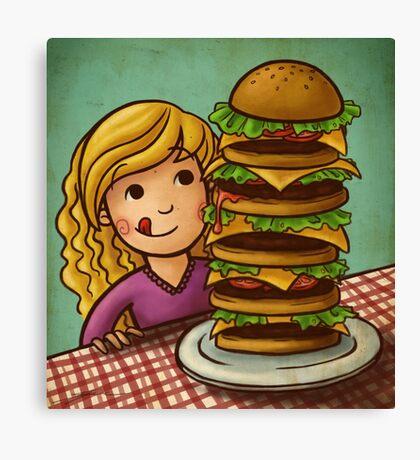 Mega Burger Canvas Print