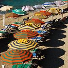 Riotous Beach Umbrellas of Cinque Terre by journeyart