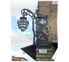 Lampost in Bologna Poster