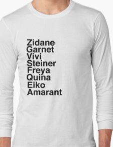 Final Fantasy IX Names Long Sleeve T-Shirt