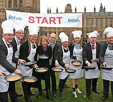 MP Pancake Race at westminster by Keith Larby
