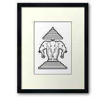 Erawan Lao / Laos Three Headed Elephant Framed Print