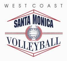 Santa Monica California Volleyball by SportsT-Shirts