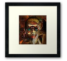 Listen to the monkey  in you  Framed Print