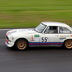 MG BGTV8.  Castle Combe August  Bank Holiday Race Day 2012 by loutolou