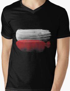 Poland Flag polska Mens V-Neck T-Shirt