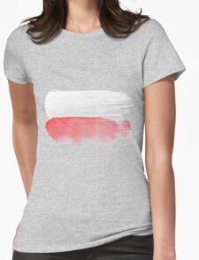 Poland Flag polska Womens Fitted T-Shirt
