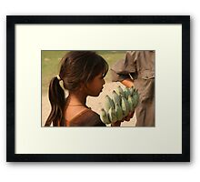 Bananas for sale Framed Print
