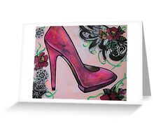 Hot Pink Pump Greeting Card