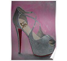 Christian Louboutin Sexy Red Bottom Princess Heel Poster