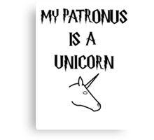Harry Potter Patronus Unicorn Canvas Print