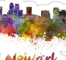 Newark skyline in watercolor Sticker