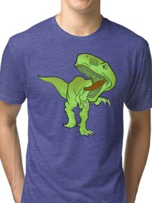 T-REX T-SHIRT green Tri-blend T-Shirt