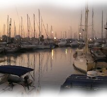 The marina sunset wet oil paint by sotia