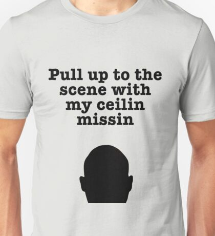 Pull up to the scene...blk Unisex T-Shirt