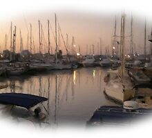 The marina sunset wet oil paint 2 by sotia