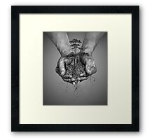 Earth In His Hands Framed Print
