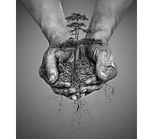 Earth In His Hands Photographic Print