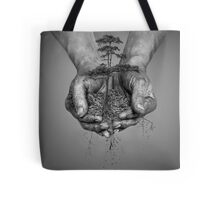 Earth In His Hands Tote Bag