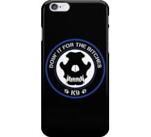 K9 Patch (Blue and black) iPhone Case/Skin
