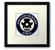 K9 Patch (Blue and black) Framed Print