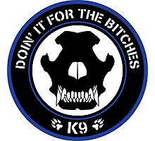 K9 Patch (Blue and black) Photographic Print