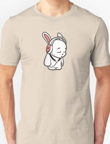 Love Music Cartoon Bunny with headphones Unisex T-Shirt