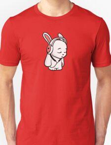 Love Music Cartoon Bunny with headphones T-Shirt