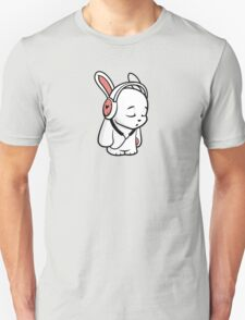 Love Music Cartoon Bunny with headphones T-Shirt