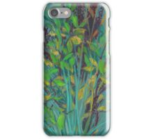 Autumn herbs, pastel drawing, impressionistic art, green shades iPhone Case/Skin