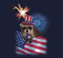 Patriotic Raccoon Baby Tee