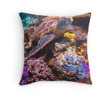 Turtle Reef Throw Pillow