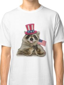 Patriotic Raccoon Classic T-Shirt