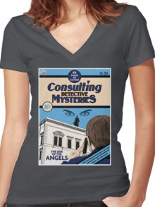 Consulting Detective Mysteries Women's Fitted V-Neck T-Shirt