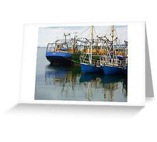 Irish Fishing Boats Greeting Card