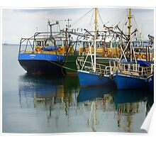 Irish Fishing Boats Poster