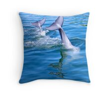 Dolphin tails Throw Pillow