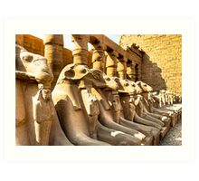 Lost Guardians - Avenue of Sphinxes Art Print