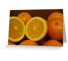 Open Orange Greeting Card