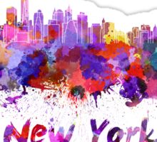 New York skyline in watercolor Sticker
