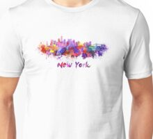 New York skyline in watercolor Unisex T-Shirt