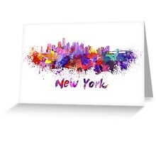 New York skyline in watercolor Greeting Card