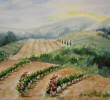Tuscan Vineyard by journeyart