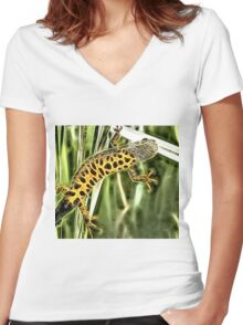 Wild nature - reptile #2 Women's Fitted V-Neck T-Shirt