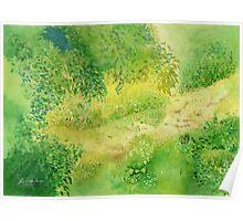 Summertime , Art Watercolor Painting print by Suisai Genki  Poster