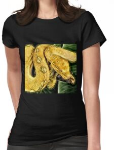 Wild nature - yellow snake  Womens Fitted T-Shirt